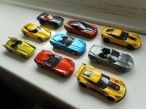Hot Wheels Chevrolet Corvette job lot x9 toy cars, C6, C7, Stingray, Z06 ZR1 etc