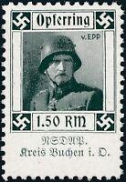 Stamp Germany Revenue WWII 3rd Reich Charity Kreis Buchen General Freikorps MNH