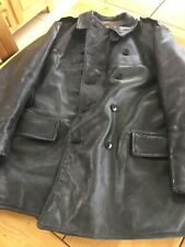 Orebro Swedish Military Leather Coat Size 2