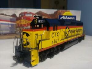 Athearn #4713 HO GP40-2 Chessie System C&O #4167 DC used excellent