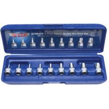 "VIM Tools SHM400 9 Piece 1/4"" Drive Metric 2mm - 10mm Stubby Hex Bit Set"