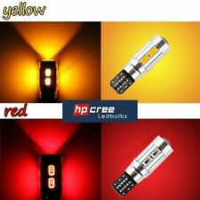 NEW 2019 UPGRADE T10 501 W5W 5630SMD 10 LED CANBUS** AMBER INDICATOR LIGHT BULBS