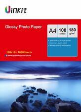 A4 180Gsm High Glossy Photo Paper Inkjet Paper Print 210x297 Uinkit - 1000 Sheet