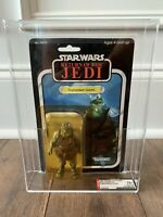 STAR WARS GAMORREAN GUARD MACAU AFA 75+Y MOC KENNER VINTAGE 1984 ROTJ JABBA HUTT