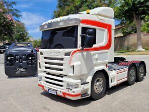Custom Tamiya R/C 1/14 Scania Semi Truck + GT Power LED & Sound +Lesu part added