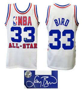 Larry Bird Signed 1985 All Star White M&N NBA Swingman Jersey - SS & BIRD HOLO