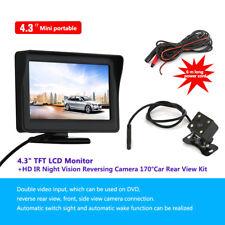 """Inalámbrico coche visión trasera Kit bus 4.3"""" LCD Monitor IR cámara marcha atrás"""