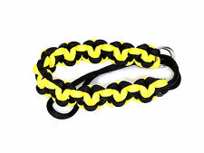 "Yellow ""Hearts"" Paracord Wrist Strap for DSLR Compact Cameras Fuji Canon Sony"