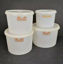 More details for vintage tupperware storage container bundle with bowls + lids retro kitchenalia