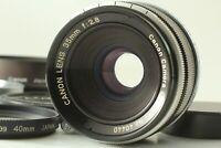 【Excellent+5 w/ HOOD】 Canon 35mm f2.8 L39 LTM Leica Screw Mount Lens Japan Y202