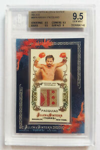 Manny Pacquiao 2011 Topps Allen & Ginter RC RELICS 3 STARS & A SUN Patch BGS 9.5
