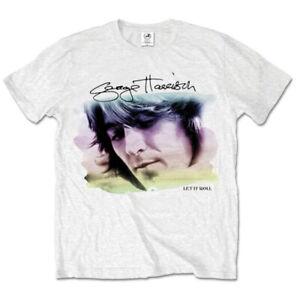 George Harrison 'Let It Roll Water Colour Portrait' T-Shirt - NEW & OFFICIAL!