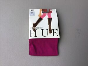 NWT HUE Super Opaque Tights w/ Control Top 90 Denier Size 1 Mulberry #712G
