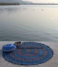 Indiano Mandala Rotondo Bohemien Elefante Arazzo Tappeto Picnic Sulla Spiaggia
