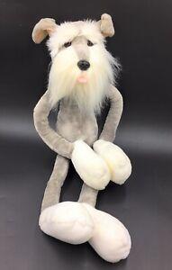 "Russ Berrie Lanky Schnauzer Dog Soft Hug Floppy Toy With Long Legs 25"" Tall"