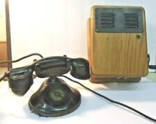Antique Hand Crank Desk Telephone - Automatic Electric Co Chicago