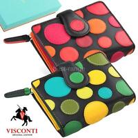 Ladies Purse Soft Leather Wallet Artisan Designer Visconti New in Gift Box P3