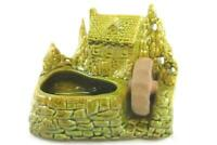 Vintage Shawnee Pottery Old Grist Mill House Water Wheel Green Planter 769 USA