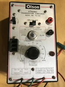OLSON TE-199 DYNAMIC TRANSISTOR CHECKER