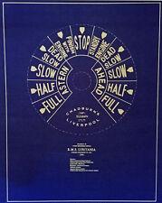 "Chadburns Ships Telegraph Dial RMS Lusitania 1906 Blueprint Plan 20""x24"" (284)"