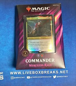 Merciless Rage Deck Commander 2019 Magic The Gathering MTG New & Sealed