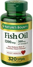 Fish Oil by Nature's Bounty Omega 3,Supports Heart 320 Softgels  Exp:3/21