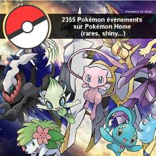 2355 Pokémon événements sur Pokemon Home (rares, shiny, légendaires...)