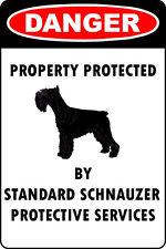 Standard Schnauzer Lover Parking Only Aluminum Metal Sign
