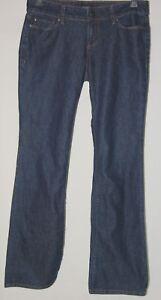 Ann Taylor Petite Modern Jeans 4 Dark Denim Blue Straight Stretch Pants