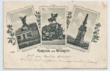Wörth an der Sauer - Bayrische Armee-Denkmal des 3. Württ.Jäger-Bat.  gel. 1909