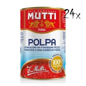 24x Mutti polpa di Pomodoro Tomatenpulpe Tomaten sauce 100% Italienisch 400g