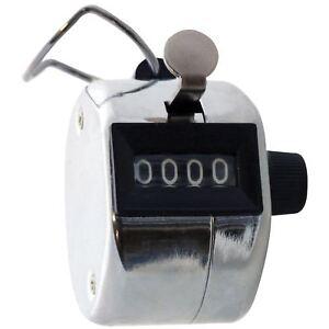 Amtech P1925 4 Digit Hand Tally Counter Golf Clicker Chrome Doorman Security