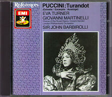 Puccini TURANDOT excerpts: EVA TURNER John Barbirolli Covent Garden 1937 LIVE CD