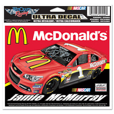 """NEW NASCAR Jamie McMurray #1 MCDONALD'S Ultra Decal 4-1/2"""" BY 6"""""""