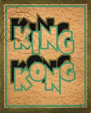 REPRO PROGRAMME  KING KONG 1933 CINEMA BFK RIVES 310GRS
