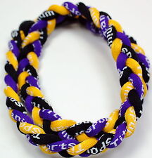 "SALE 18"" 3 Rope Titanium Sport Necklace Yellow Black Purple Tornado Baseball"