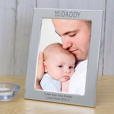 Personalised Silver Plated Photo Picture Frame Me and Daddy