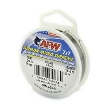 Afw Dm49-20-A 20lb Surflon Micro Supreme 7x7 Ss Leader Camo 5m