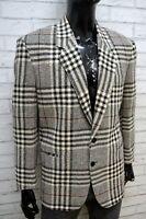 TRUSSARDI ACTION Uomo Taglia L Giacca Vintage Cappotto Lana Blazer Jacket Man