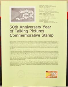 USPS 1977 First Day Issue Souvenir Page, 50th Anniversary Year of Taking Picture