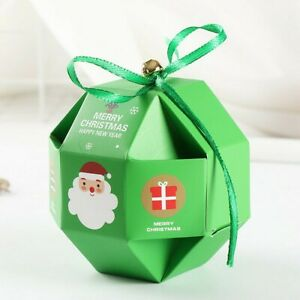 10pcs Christmas Gift Box Large Xmas Present Sweets Wrapping Candy Boxes Supplies