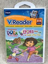 Vtech VReader Dora the Explorer & the 3 Little Pigs 2010 Tested Complete