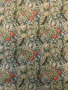 william morris fabric golden lily 60inch £12.99 a mtr