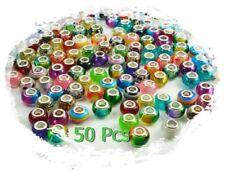 MIX 50pcs Alloy Murano Big Hole Beads DIY