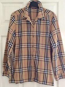 Burberry Nova Check Shirt Authentic Size L 12-14 Vintage