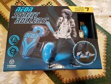 New Nib Y-Volution Blue Neon Street Rollers Clip On Skates For Ages 6+