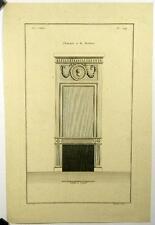 Gravure de Pelletier d'ap Boucher,Cheminée moderne,n124