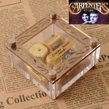 Acrylic Cubic Gold Wind Up Music Box : Yesterday Once More @ Carpenters