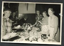 C1950's Photo Image of Ladies serving a Buffet