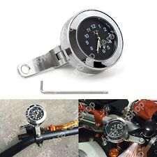 Moto Water Resistant Handlebar Brake Clutch Mount Clock Electroluminescent Face